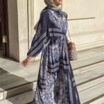 Rimel Aşkına Hilal Mavi Elbise