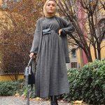 Rimel Aşkına Tesettür Kışlık Elbise