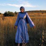Tesettür Kuşaklı Elbise Kombini