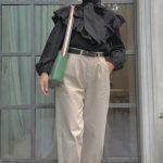 Tesettür Siyah Bluz Pantolon Kombini