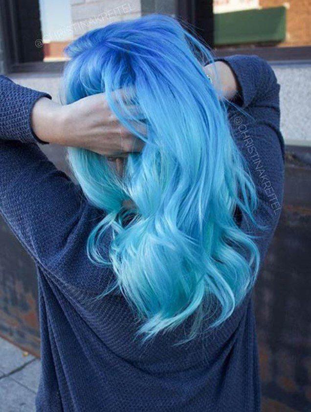 2 Tonlu Mavi Saç