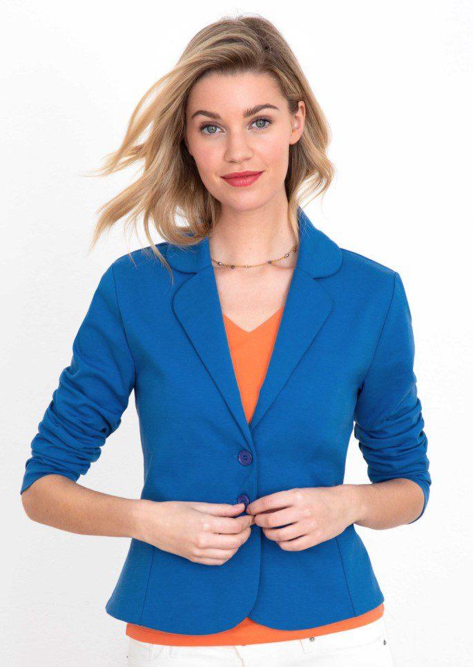 Açık Mavi Düğmeli Peplum Ceket Modeli