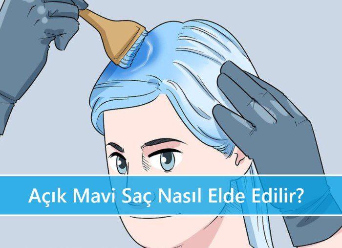 Açık Mavi Saç Nasıl Elde Edilir