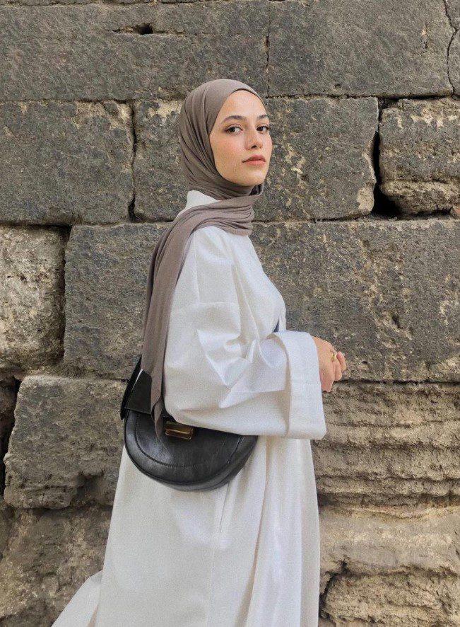 Ayşenur Coşkun Beyaz Yazlık Elbise