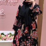 Ceren İzgi Çiçekli Elbise Kombini