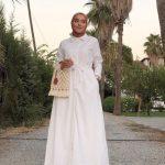Ceyda Öztürk Beyaz Elbise Modeli