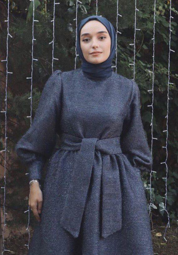 Ceyda Öztürk Kadife Tesettür Elbise