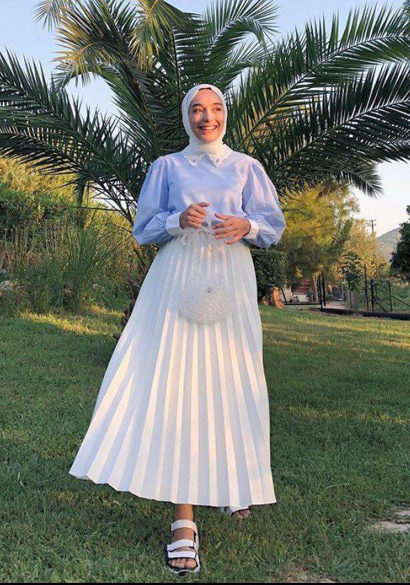 Ceyda Öztürk Uzun Etek Bluz Kombin
