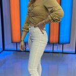 Ece Mumay Beyaz Pantolon Tişört