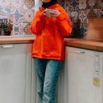 Elif Sezer Turuncu Sweatshirt