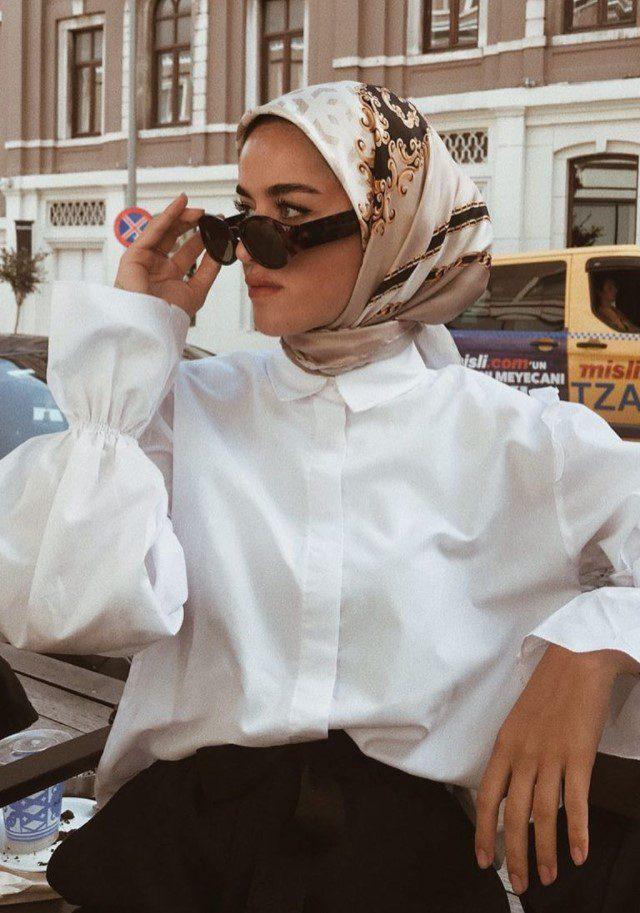 Eşarbı Şal Gibi Bağlama Modeli