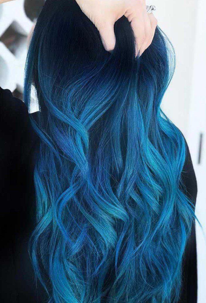 İndigo Mavi Saç Rengi