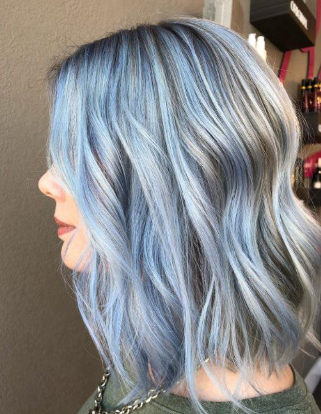 Pastel Blue Hair Color