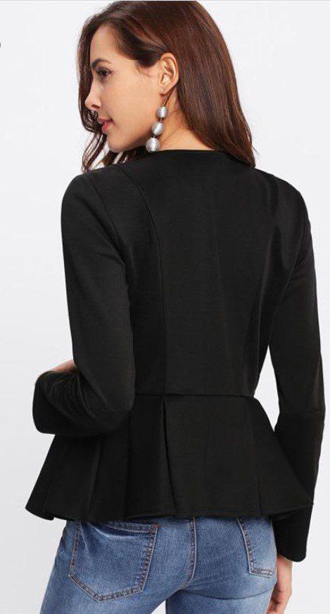 Siyah Peplum Ceket Modeli