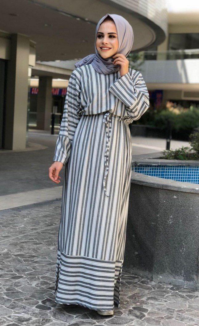 Tesettür Bayramlık Sade Elbise