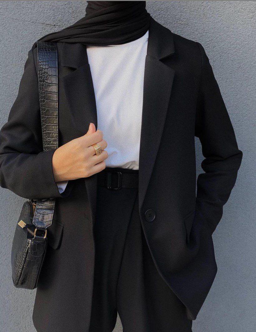 Tesettür Penye Ceket Pantolon Kombini