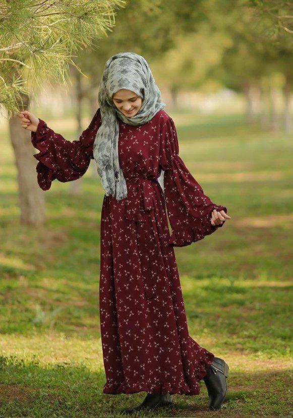 Zeynep Yalçınkaya Bordo Elbise