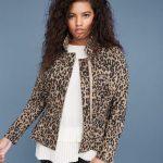 leoparlı peplum ceket modeli