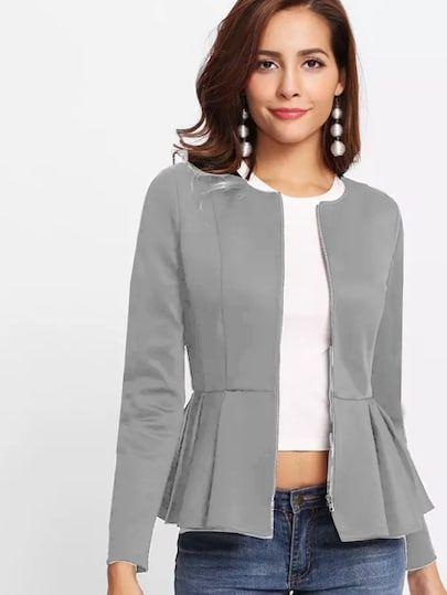 yazlık peplum ceket modeli