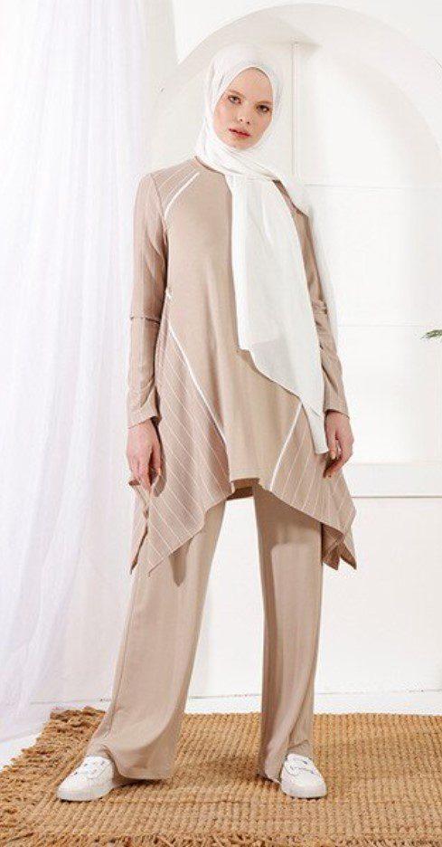 Açık Kahverengi İkili Takım Elbise