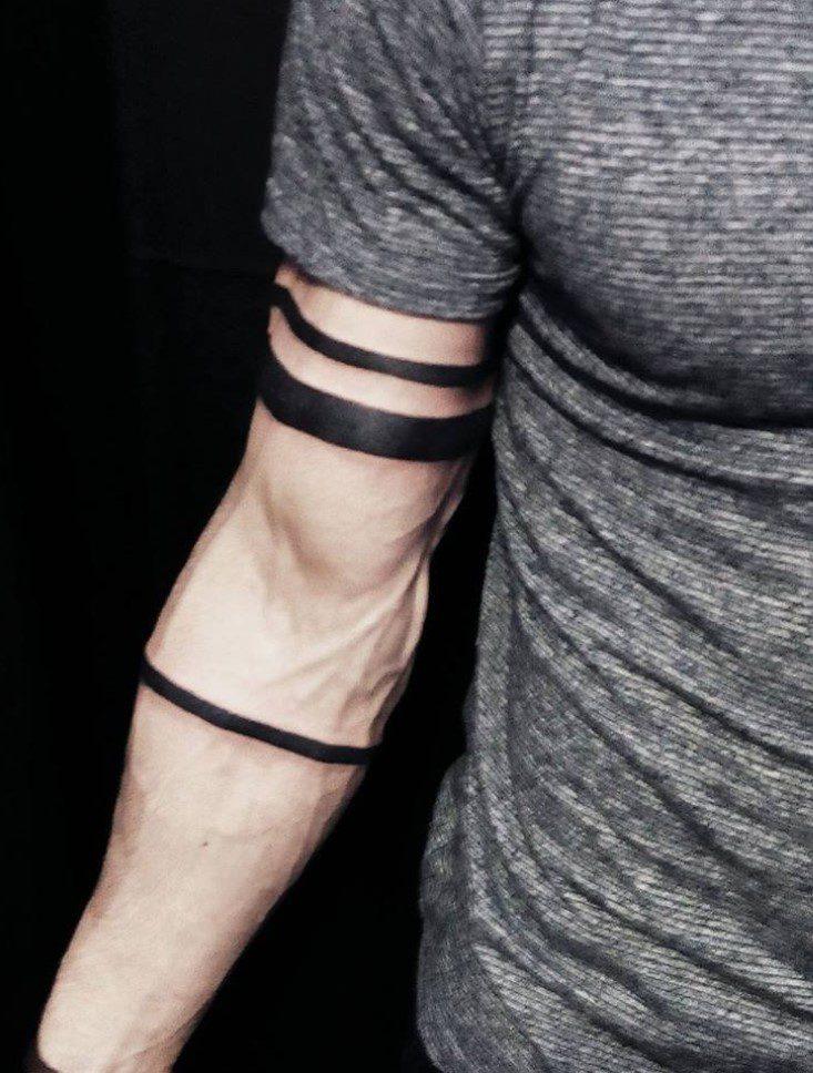 Erkek Kol Şerit Dövme Modeli
