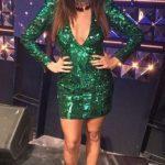Esmerler için Yeşil Pullu Elbise Modeli