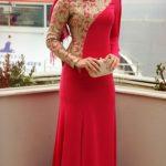 Kırmızı Mislina Abiye Modeli