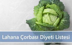 Lahana Çorbası Diyeti Listesi   1 Haftada 5-8 Kilo