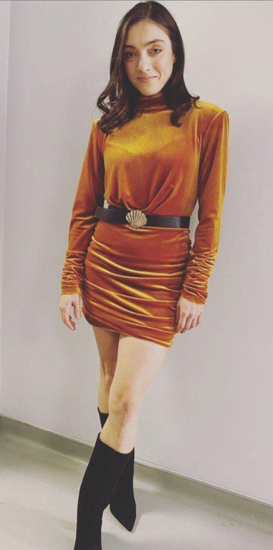 Merve Dizdar Sarı Elbise Modeli