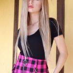 Özgür Balakar Düz Uzun Sarı Saçları