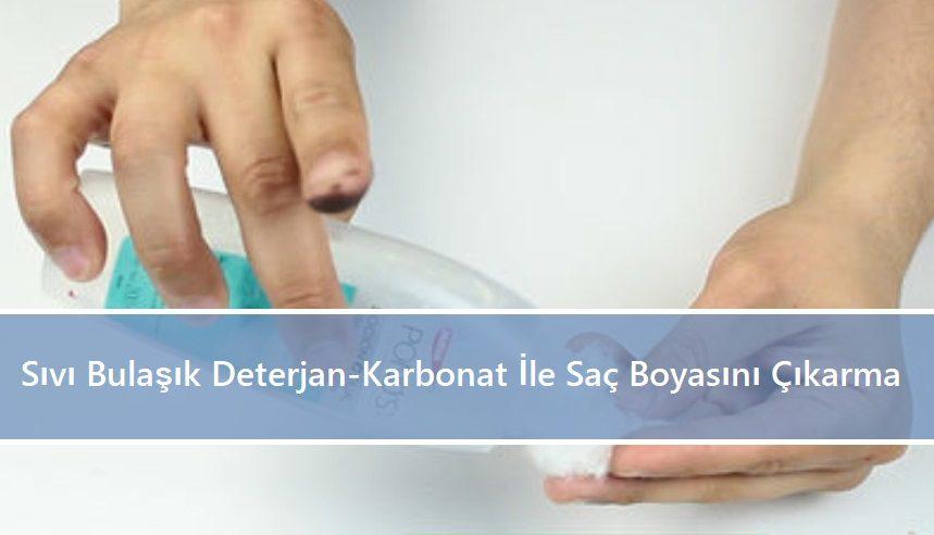 Sıvı Bulaşık Deterjan -Karbonat İle Saç Boyasını Çıkarma