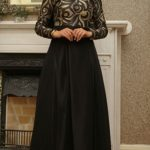 Siyah Mislina Abiye Modeli