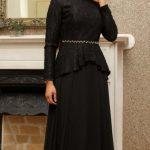 Siyah Mislina Abiye Modelleri