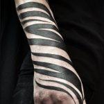 Zebra Desenli Şerit Dövme Modeli