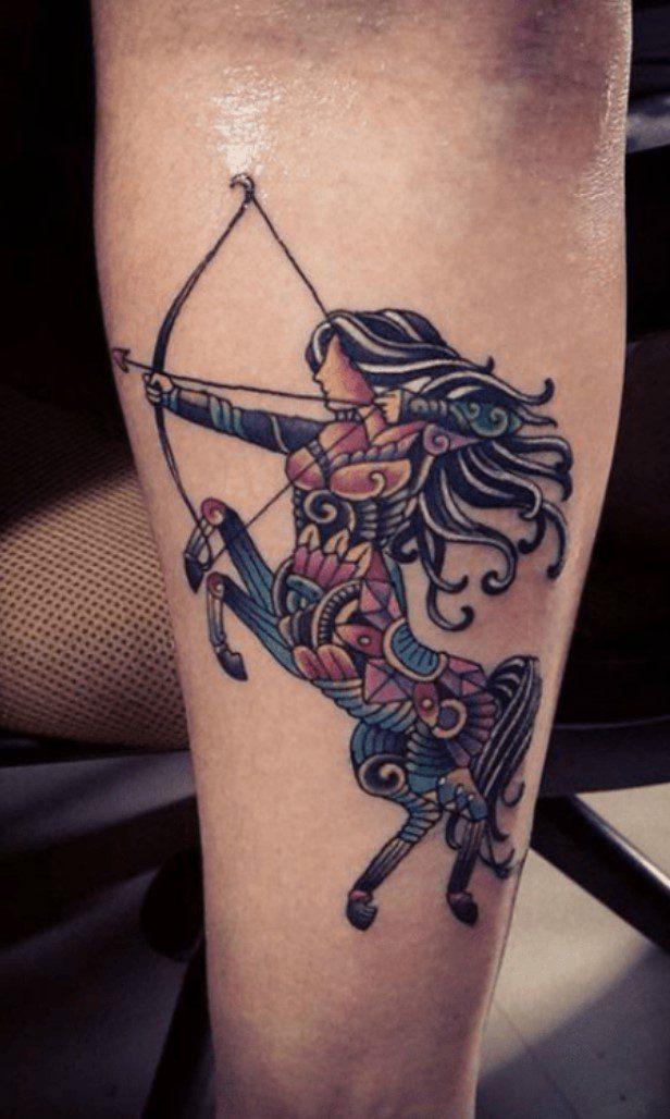 Bacak Yay Burcu Dövme Modeli