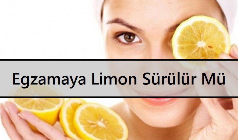 Egzamaya Limon Sürülür Mü