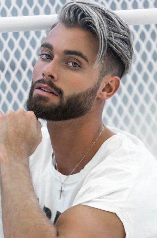 Gri Renk Yanlar Kısa Üstler Uzun Erkek Saçı
