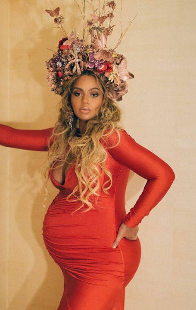 Kırmızı Parlak Beyonce Abiye