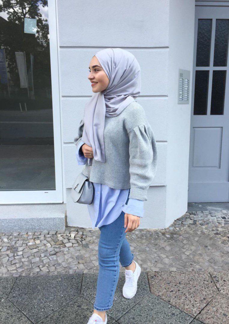 Kot Pantolın Kazak Tesettür Üniversiteli
