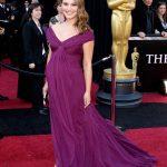 Natalie Portman Mor Hamile Abiye