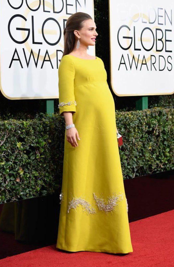 Natalie Portman Sarı Hamile Abiye