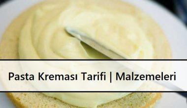 Pasta Kreması Tarifi | Malzemeleri