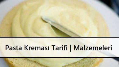 Pasta Kreması Tarifi Malzemeleri