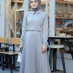Tesettürlü Üniversiteli Elbise Kombini