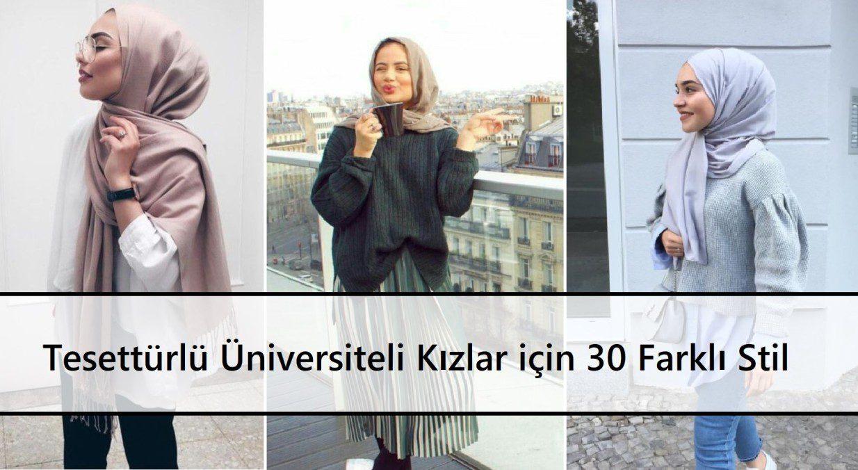 Tesettürlü Üniversiteli Kızlar için 30 Farklı Stil