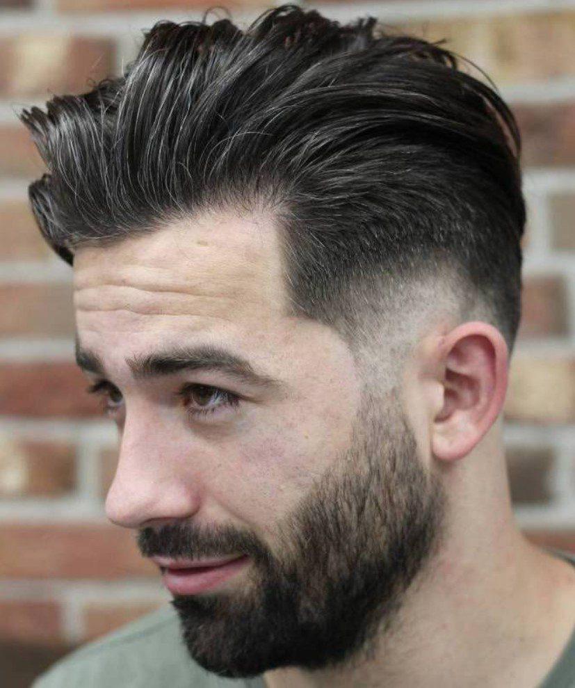 Üstler Orta Kısa Yanlar 1 numara erkek saç modeli