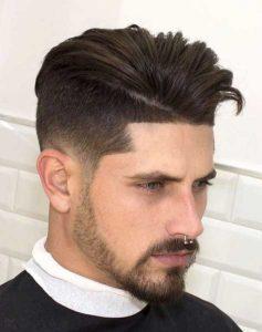Yanlar 2 numara üstler uzun erkek saç modeli