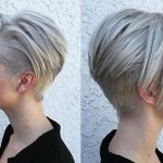 Yanlar Kısa Üstler Uzun Kadın Beyaz Saç