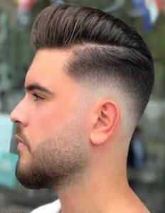 Yanlar Kısa Üstler Uzun saç modeli erkek
