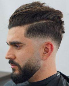 Yanlar Sıfır üstler kısa erkek saç stili